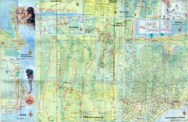 Карта Бали (оборот)