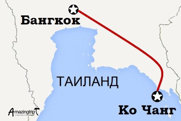 """Тур """"Тайский Робинзон"""", карта путешествия"""