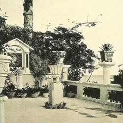 Терраса в доме графа, названная «голубым садом нашей дамы»