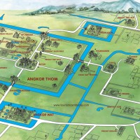 3D-карта храмового комплекса Ангкор