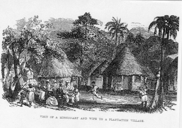 Памятное фото в деревне рабочих плантации