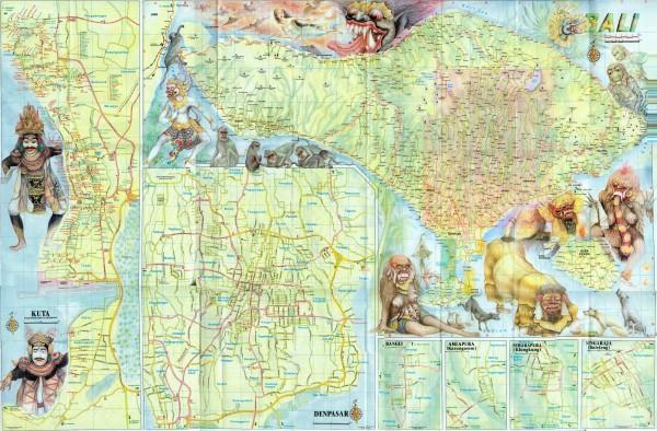 Карта Бали (фронт)